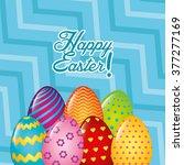 happy easter design  | Shutterstock .eps vector #377277169