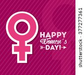 happy womens day design  | Shutterstock .eps vector #377277361