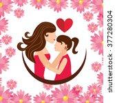 happy mothers day design  | Shutterstock .eps vector #377280304