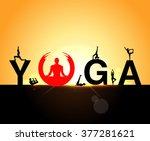world yoga day vector... | Shutterstock .eps vector #377281621