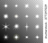 sparkling stars  flickering and ... | Shutterstock .eps vector #377297029