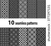 10 geometric seamless patterns... | Shutterstock .eps vector #377297131