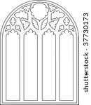 cathedral window | Shutterstock . vector #37730173