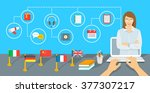 online internet language... | Shutterstock .eps vector #377307217