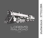 Railroad Logo Badge Label...