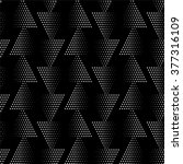 Seamless pattern. Monochrome. Backdrop. Web. Vector illustration. Vintage geometric texture with repeated dots of different sizes. | Shutterstock vector #377316109