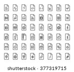 file types vector icon set in... | Shutterstock .eps vector #377319715