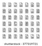 file format extensions vector... | Shutterstock .eps vector #377319721