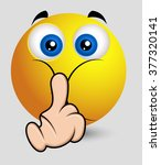 keep silent   comic emoticon | Shutterstock .eps vector #377320141