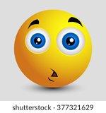 shocked sad emoji smiley...   Shutterstock .eps vector #377321629
