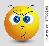 aggressive emoticon | Shutterstock .eps vector #377323369