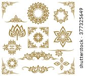 thai ethnic decorative elements ... | Shutterstock .eps vector #377325649