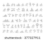 line vector icon set summer and ... | Shutterstock .eps vector #377327911