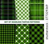 set of seamless tartan patterns....   Shutterstock .eps vector #377329369