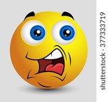talking smiley emoji smiley... | Shutterstock .eps vector #377333719