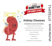 kidney health awareness template | Shutterstock .eps vector #377333911