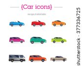 set of car bodies. includes... | Shutterstock .eps vector #377336725