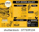 restaurant brochure vector ... | Shutterstock .eps vector #377339134