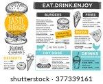 restaurant brochure vector ... | Shutterstock .eps vector #377339161
