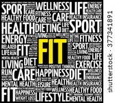fit word cloud background ... | Shutterstock .eps vector #377341891