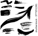 set of hand drawn textures and... | Shutterstock .eps vector #377351281
