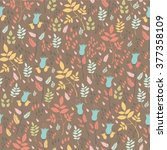 cute seamless pattern with... | Shutterstock .eps vector #377358109