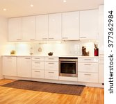 Stock photo interior of a kitchen 377362984