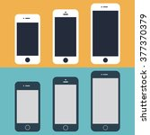 smartphone iphone mockup icons... | Shutterstock .eps vector #377370379
