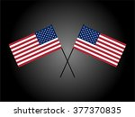 us flag  made with strict... | Shutterstock . vector #377370835