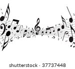 musical notes staff background | Shutterstock . vector #37737448