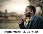 man thinking of something | Shutterstock . vector #377375005