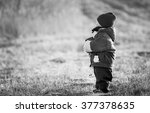 young happy boy playing outdoor ... | Shutterstock . vector #377378635