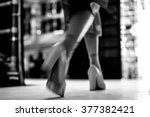 fashion show  blurred motion | Shutterstock . vector #377382421