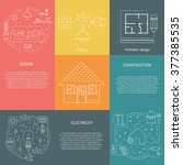 vector set of templates with... | Shutterstock .eps vector #377385535