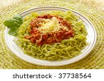 tagliatelle with sauce bolognese