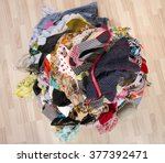 close up on a big pile of... | Shutterstock . vector #377392471