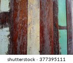 closeup old color hardwood... | Shutterstock . vector #377395111
