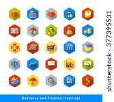 business and finance icons set... | Shutterstock .eps vector #377395531