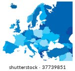 color country map of europe | Shutterstock .eps vector #37739851