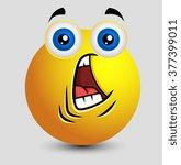 fearful face emoji | Shutterstock .eps vector #377399011