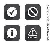 information icons. stop... | Shutterstock .eps vector #377400799