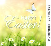 abstract easter background with ... | Shutterstock .eps vector #377407519