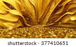 beautiful golden background... | Shutterstock . vector #377410651