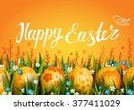 Happy Easter Vector Card....