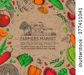 food design template. vintage...   Shutterstock .eps vector #377411041