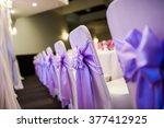 wedding reception chair... | Shutterstock . vector #377412925