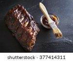 half rack of baby back...   Shutterstock . vector #377414311