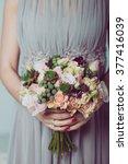 wedding bouquet of flowers ... | Shutterstock . vector #377416039