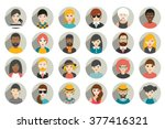 Set Of Circle Persons  Avatars...