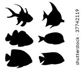 fish silhouettes | Shutterstock .eps vector #37742119
